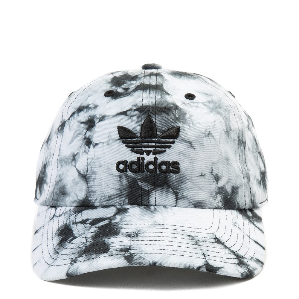 adidas Trefoil Tie Dye Relaxed Dad Hat - White / Black