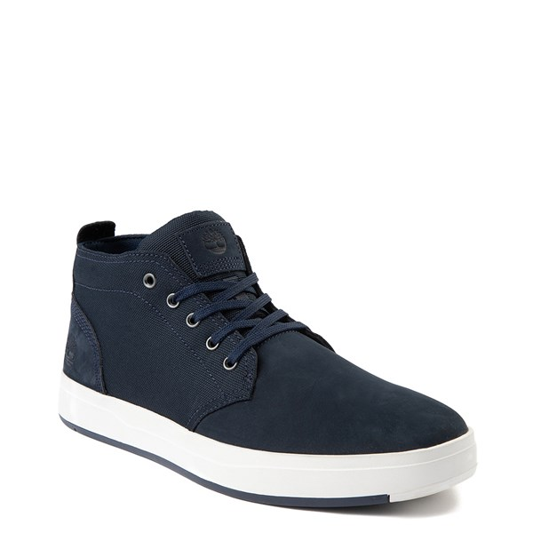 alternate view Mens Timberland Davis Square Chukka Boot - NavyALT1
