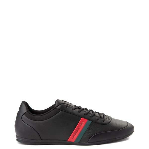 Mens Lacoste Storda Athletic Shoe - Black / Red / Green