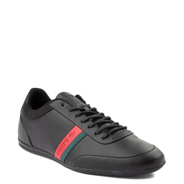 alternate view Mens Lacoste Storda Athletic Shoe - Black / Red / GreenALT1