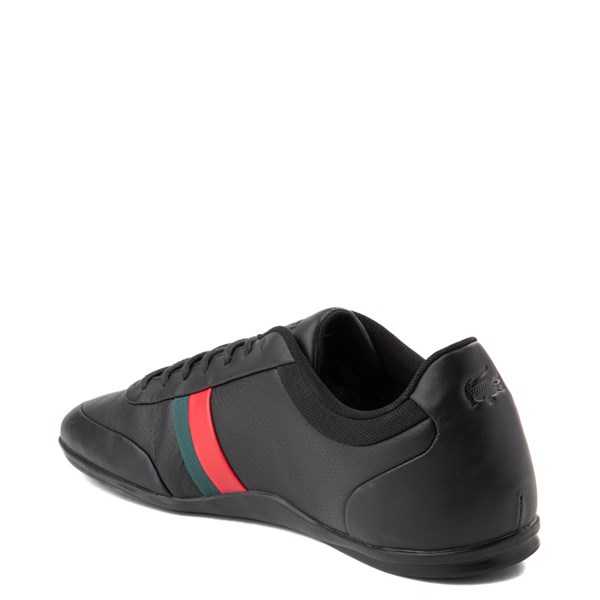 alternate view Mens Lacoste Storda Athletic Shoe - Black / Red / GreenALT2