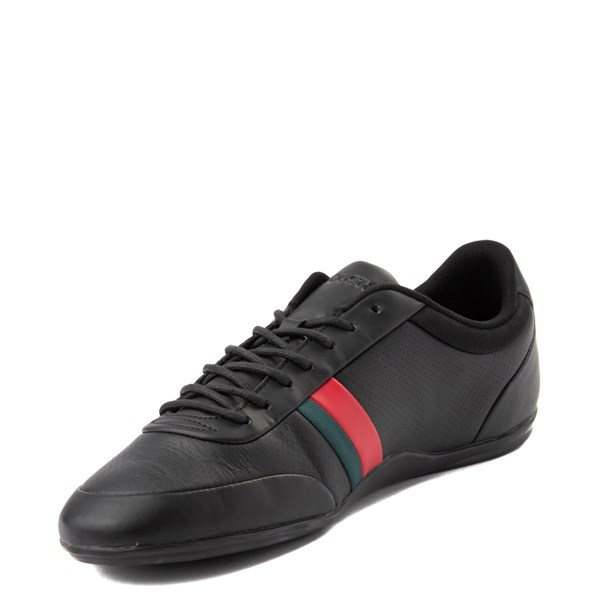 alternate view Mens Lacoste Storda Athletic Shoe - Black / Red / GreenALT3