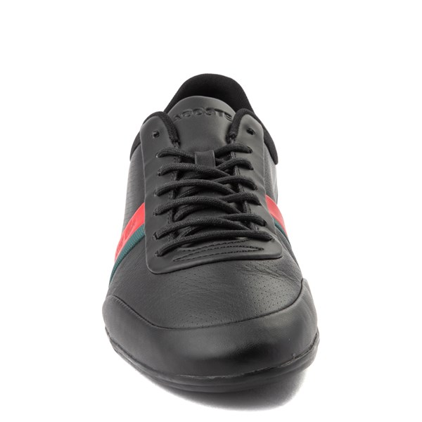 alternate view Mens Lacoste Storda Athletic Shoe - Black / Red / GreenALT4