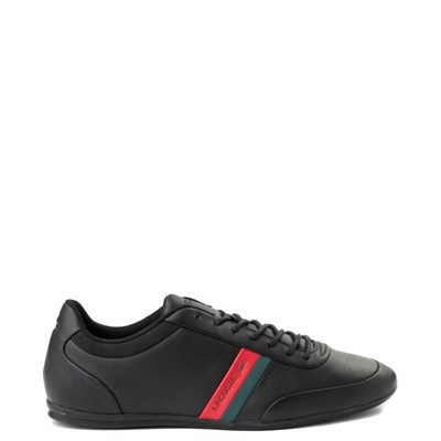 Main view of Mens Lacoste Storda Athletic Shoe - Black / Red / Green