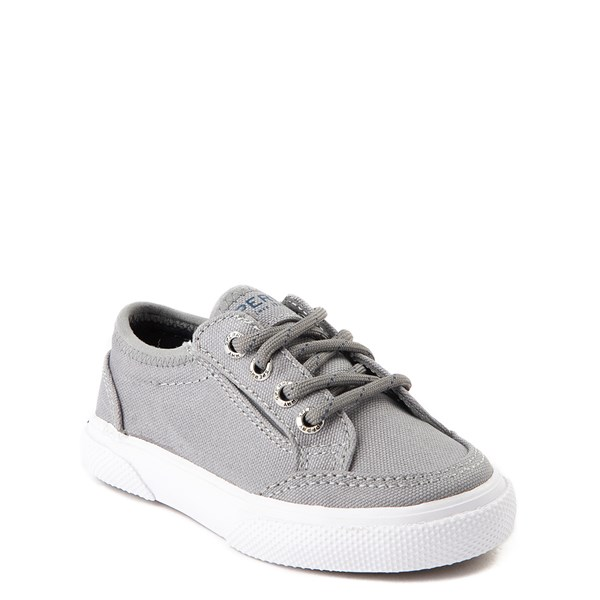 Alternate view of Sperry Top-Sider Deckfin Boat Shoe - Toddler / Little Kid - Gray