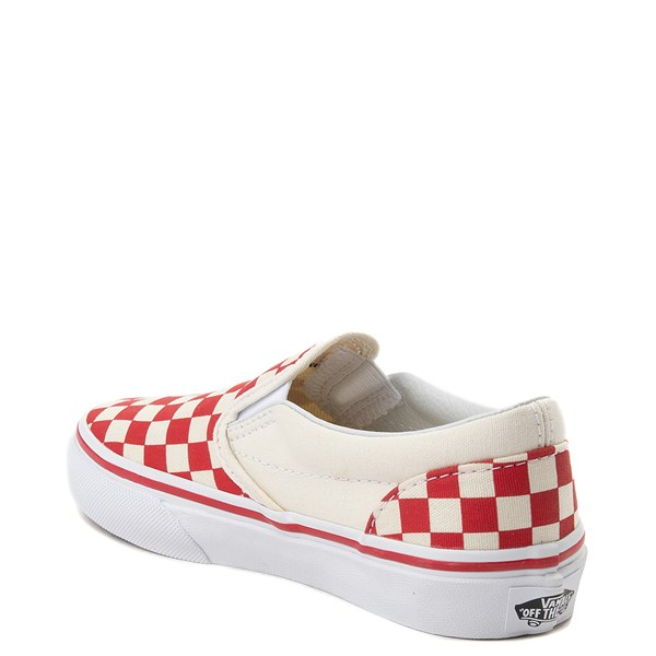 alternate view Vans Slip On Checkerboard Skate Shoe - Little Kid / Big Kid - Racing RedALT2