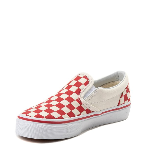 alternate view Vans Slip On Checkerboard Skate Shoe - Little Kid / Big Kid - Racing RedALT3