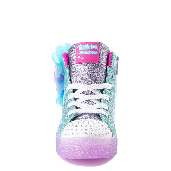 alternate view Skechers Twinkle Toes Shuffle Brights Sneaker - Little Kid - Blue / SilverALT5