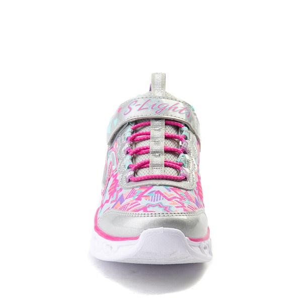 alternate view Skechers S Lights Hearts Sneaker - Little KidALT4