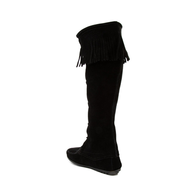 Alternate view of Womens Minnetonka Front Lace Knee High Boot - Black