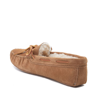 Alternate view of Womens Minnetonka Sheepskin Softsole Moccasin Slipper - Tan