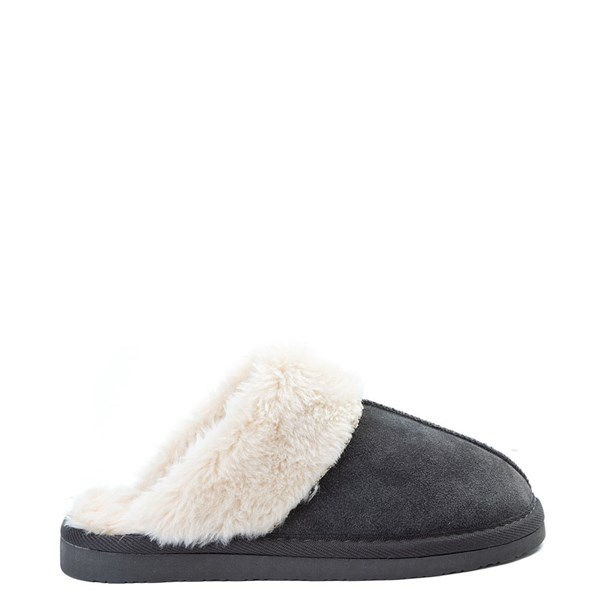 Womens Minnetonka Chesney Slipper - Charcoal