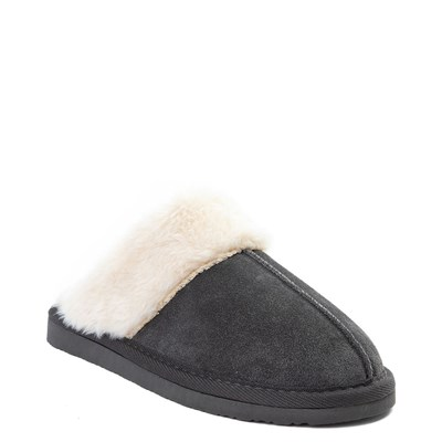 Alternate view of Womens Minnetonka Chesney Slipper - Charcoal