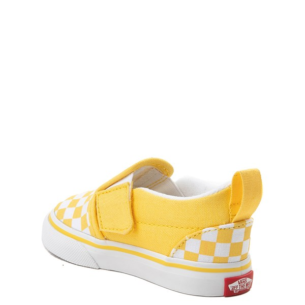 alternate view Vans Slip On V Checkerboard Skate Shoe - Baby / ToddlerALT2