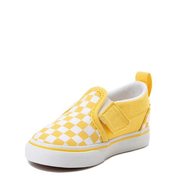 alternate view Vans Slip On V Checkerboard Skate Shoe - Baby / ToddlerALT3