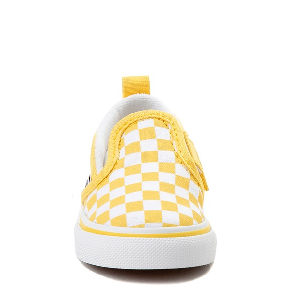 alternate view Vans Slip On V Checkerboard Skate Shoe - Baby / ToddlerALT4