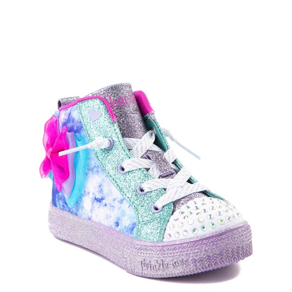 alternate view Skechers Twinkle Toes Shuffle Brights Sneaker - ToddlerALT1B