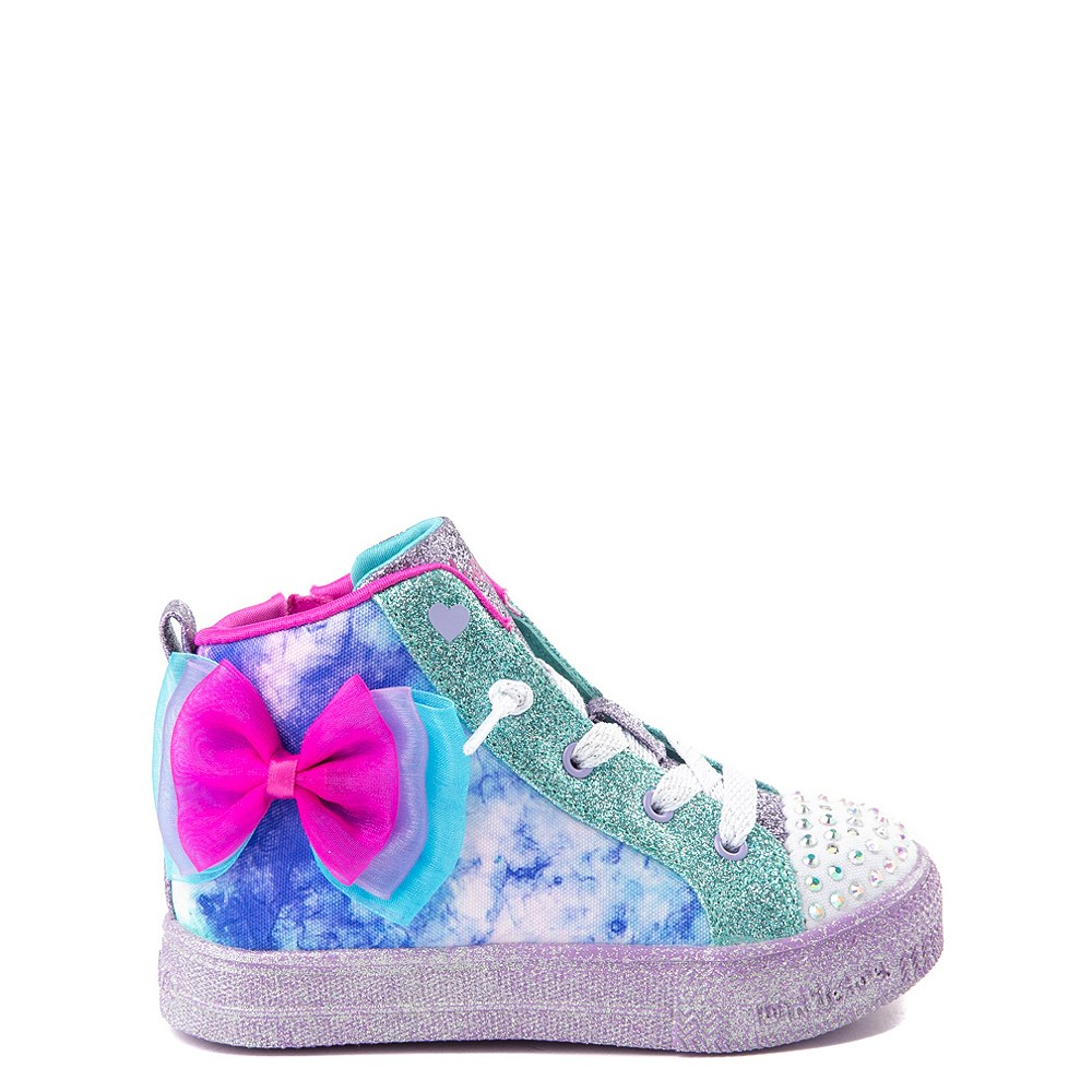 Skechers Twinkle Toes Shuffle Brights Sneaker - Toddler - Blue / Silver