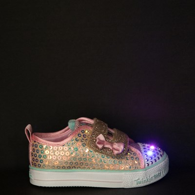 Alternate view of Skechers Twinkle Toes Mermaid Sneaker - Toddler