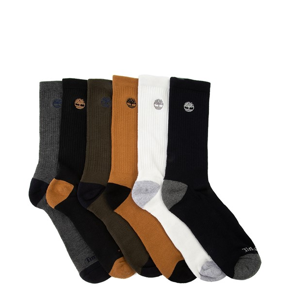 Mens Timberland Crew Socks 6 Pack