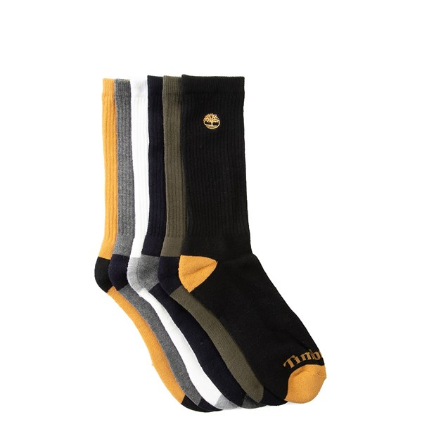 Mens Timberland Crew Socks 6 Pack - Multi