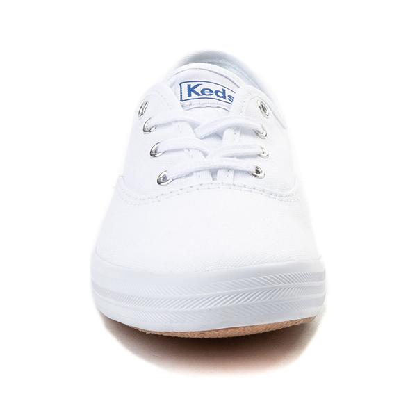 alternate view Womens Keds Champion Original Casual Shoe - White MonochromeALT4