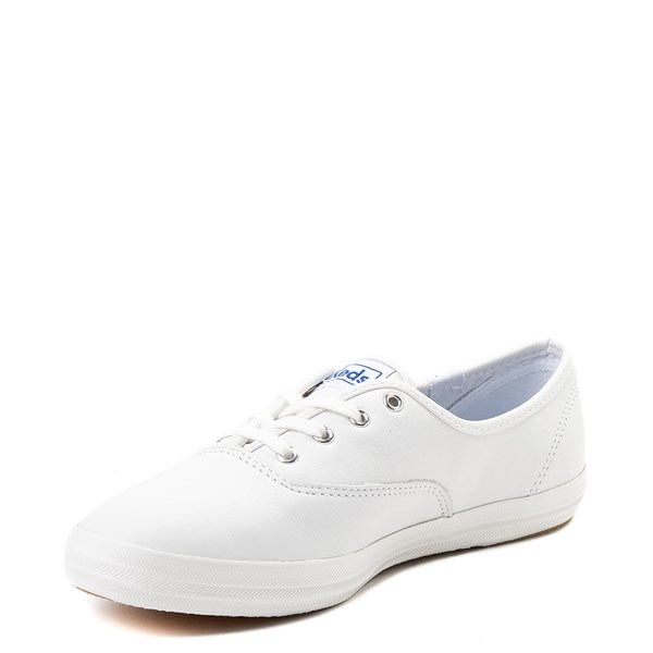 alternate view Womens Keds Champion Original Leather Casual Shoe - WhiteALT3
