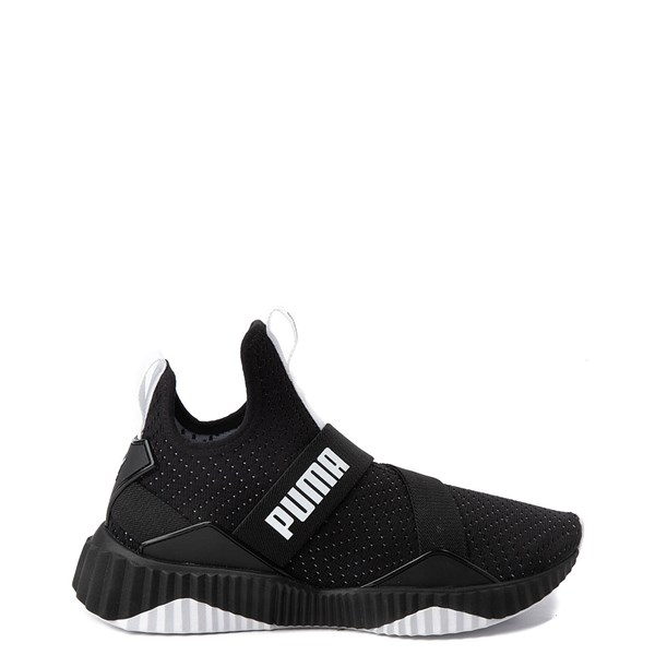 Womens Puma Defy Mid Athletic Shoe - Black / White
