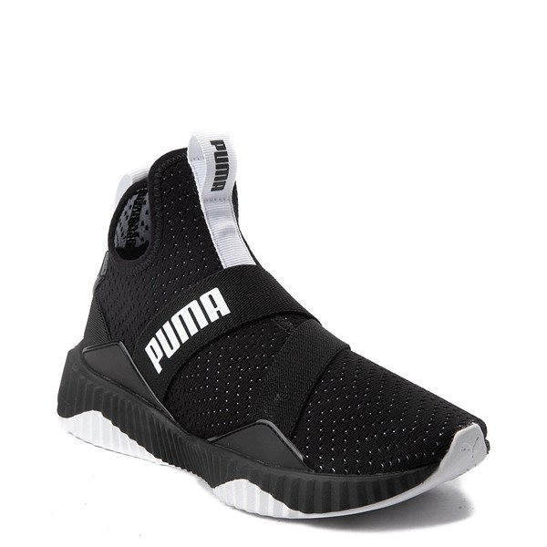 alternate view Womens Puma Defy Mid Athletic Shoe - Black / WhiteALT1