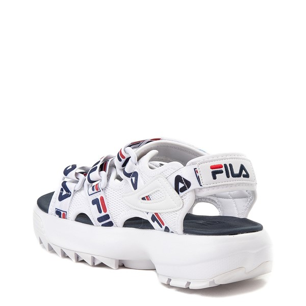 alternate view Womens Fila Disruptor Sandal - White / Navy / RedALT1