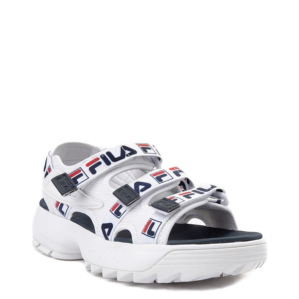 alternate view Womens Fila Disruptor Sandal - White / Navy / RedALT5