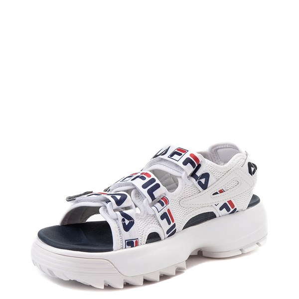 alternate view Womens Fila Disruptor Sandal - White / Navy / RedALT3