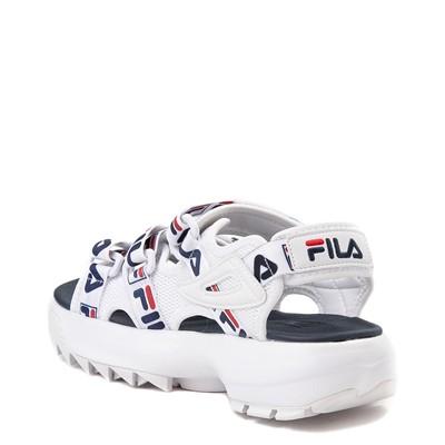 Alternate view of Womens Fila Disruptor Sandal - White / Navy / Red