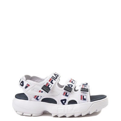 Main view of Womens Fila Disruptor Sandal - White / Navy / Red