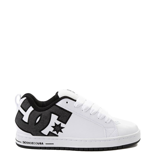 Mens DC Court Graffik SE Skate Shoe - White / Gray