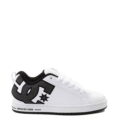 Main view of Mens DC Court Graffik SE Skate Shoe - White / Gray