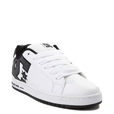 Alternate view of Mens DC Court Graffik SE Skate Shoe - White / Gray