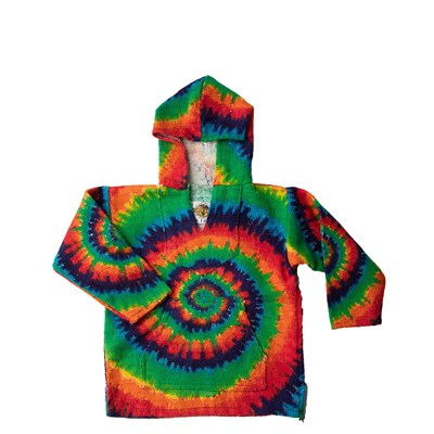 Main view of Toddler Tie Dye Baja Poncho