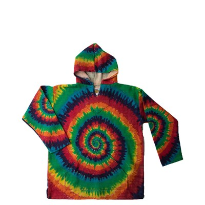 Main view of Youth Baja Tie Dye Poncho