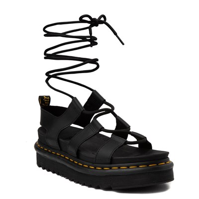 Alternate view of Womens Dr. Martens Nartilla Sandal - Black