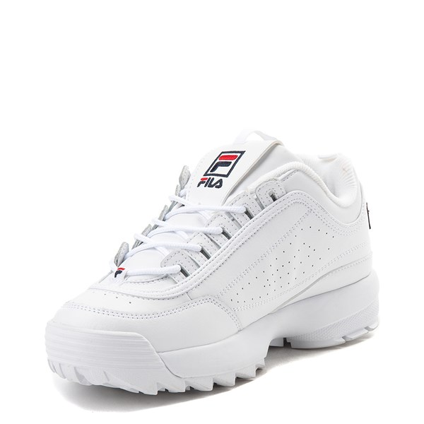 alternate view Womens Fila Disruptor 2 Premium Script Athletic Shoe - White / GoldALT3