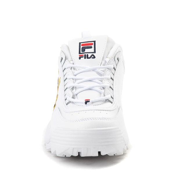 alternate view Womens Fila Disruptor 2 Premium Script Athletic Shoe - White / GoldALT4
