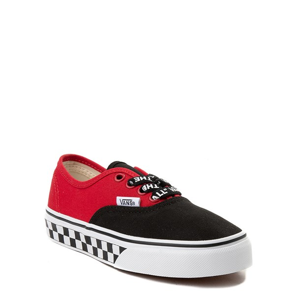 Alternate view of Vans Authentic Logo Pop Checkerboard Skate Shoe - Little Kid / Big Kid