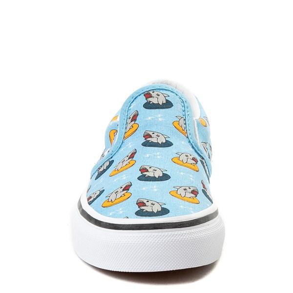 alternate view Vans Slip On Floatie Sharks Skate Shoe - Little KidALT4