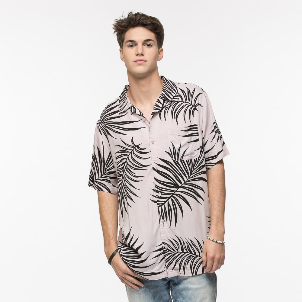 Mens Vans Palms For Peace Button Down Shirt