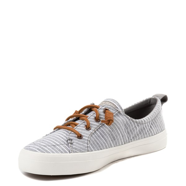 alternate view Womens Sperry Top-Sider Crest Vibe Casual Shoe - Gray / WhiteALT3
