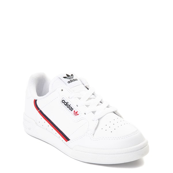 alternate view adidas Continental 80 Athletic Shoe - Little Kid - White / Navy / RedALT1