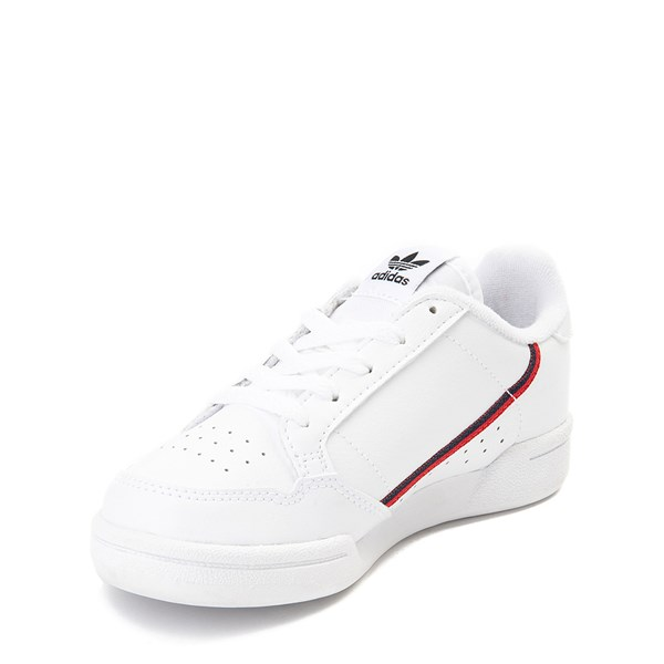 alternate view adidas Continental 80 Athletic Shoe - Little Kid - White / Navy / RedALT3