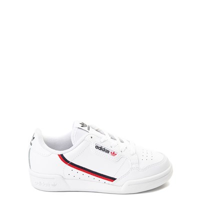 Main view of adidas Continental 80 Athletic Shoe - Little Kid - White / Navy / Red
