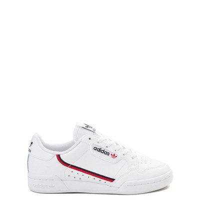Main view of adidas Continental 80 Athletic Shoe - Big Kid - White / Navy / Red